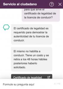 chatbot y ciudadano