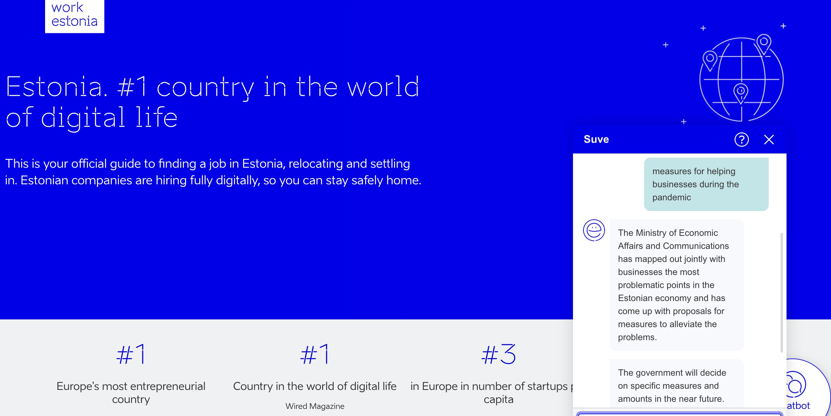 Suve asistente virtual gobiernos, Estonia